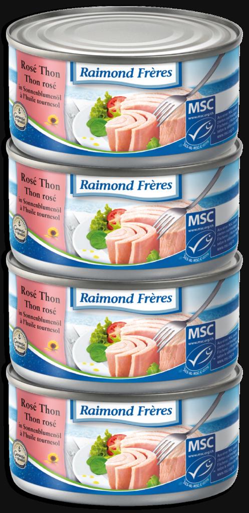 Raimond Frères MSC Pink tuna (SKJ) sunflower oil -4pce (102009)