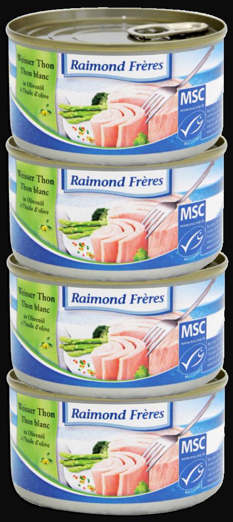 Raimond Frères MSC White tuna Albacore – oliveoil -4pce (102137)