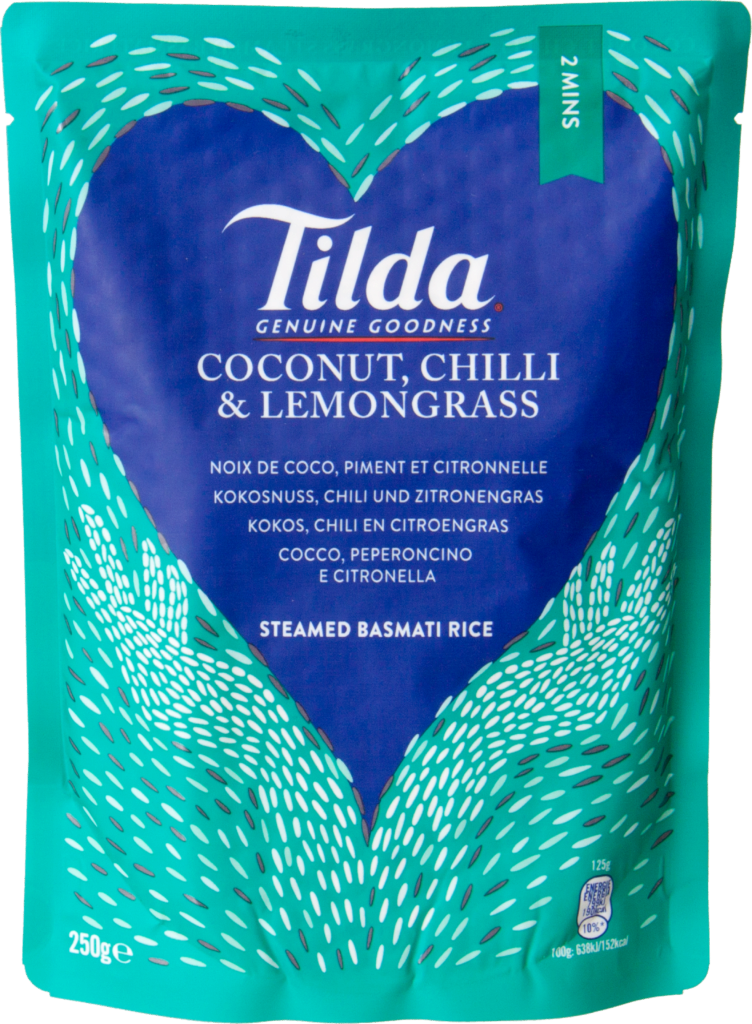 Tilda Rice coconut & chili rice pre-steamed (102250)