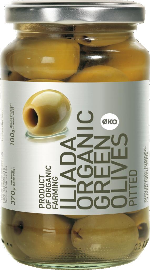 Iliada SILVER LINE Organic Green olives (110046)