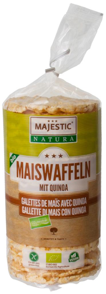 Majestic Natura BIO Maiswaffeln mit Quinoa (110083)