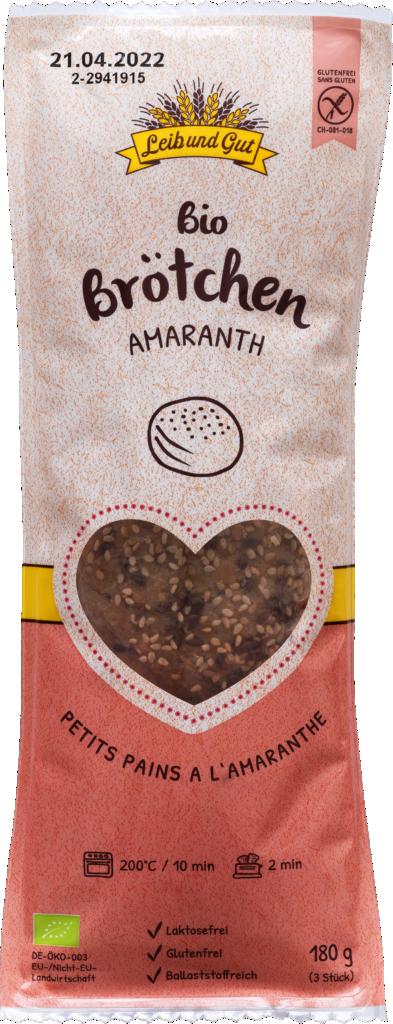 Leib und Gut Amaranth buns organic – glutenfree (110400)
