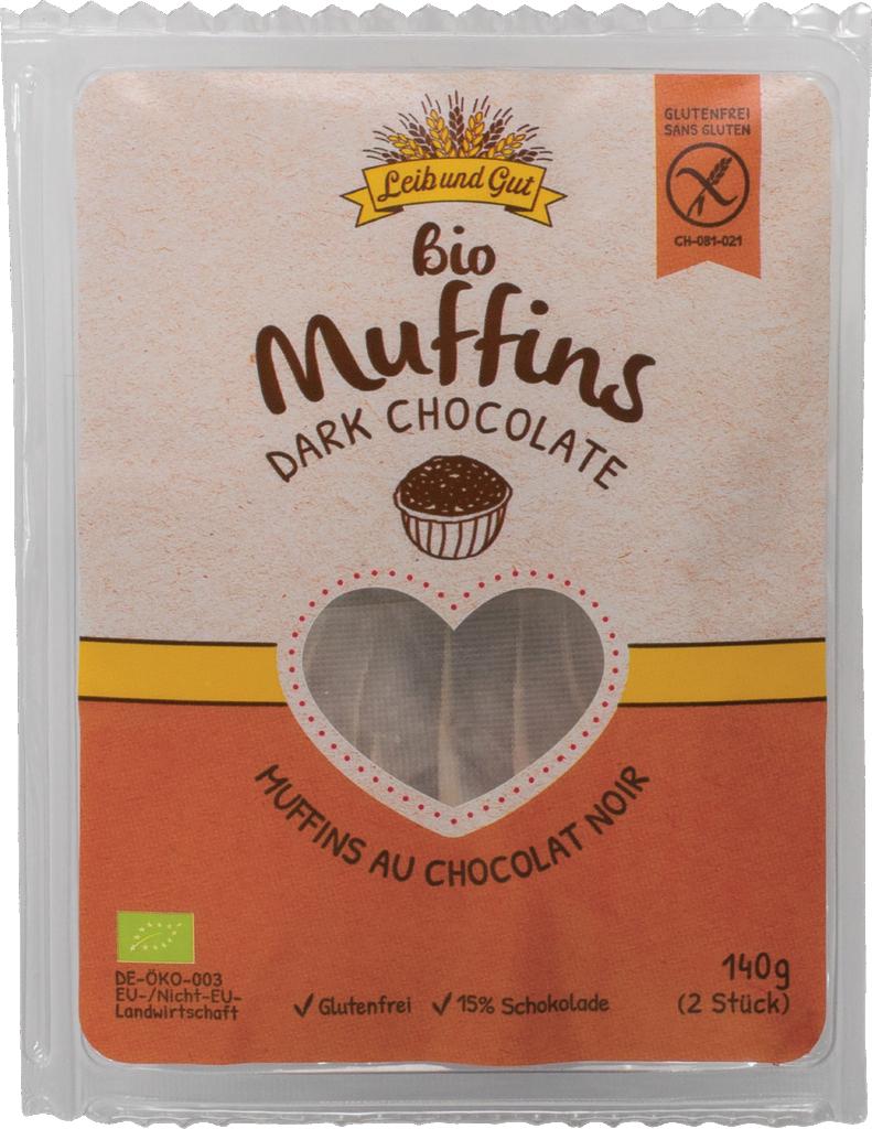 Leib und Gut Muffins dark chocolate organic – glutenfree (110403)