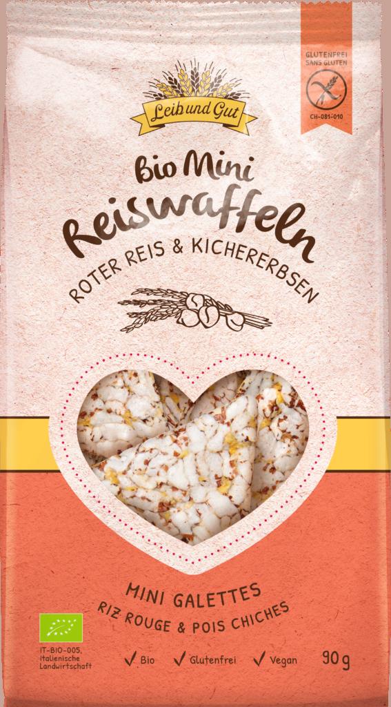 Leib und Gut Mini crackers red rice & chickpeas BIO (110654)