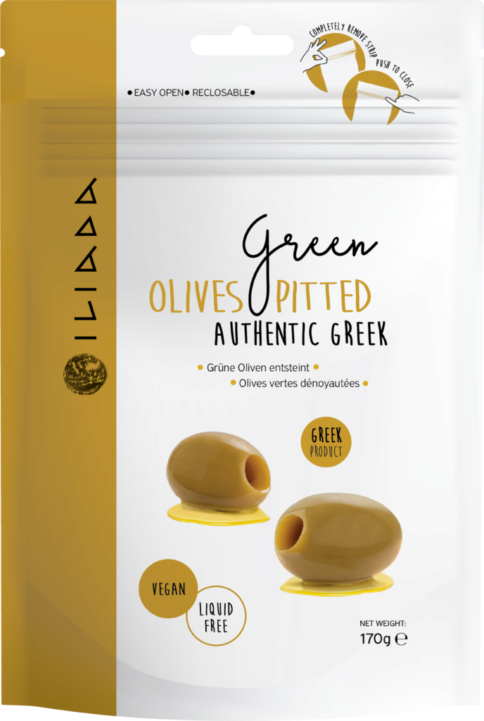 Iliada Green olives pitted (113316)