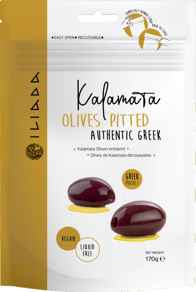Iliada Kalamata olives pitted (113317)