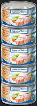 Raimond Frères Bright tuna (Tongol) in oil -5pce (101324)
