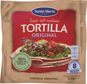 Santa Maria Soft tortillas – 8 pieces 21 cm (101552)