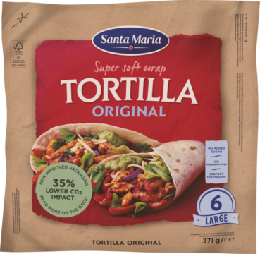 Santa Maria Wrap Tortillas Big 6 pieces ca. 24cm (101674)