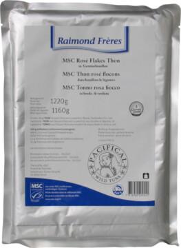 Raimond Frères MSC Pink tuna vegetable broth flakes (101701)