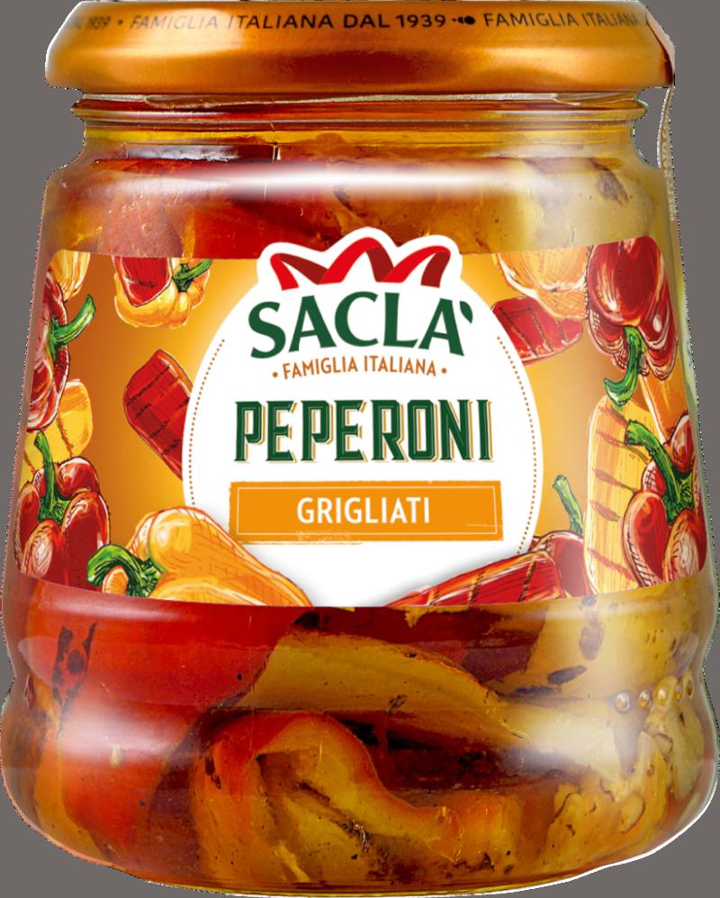 Saclà Poivrons grillés, marinés dans l'huile (101916)