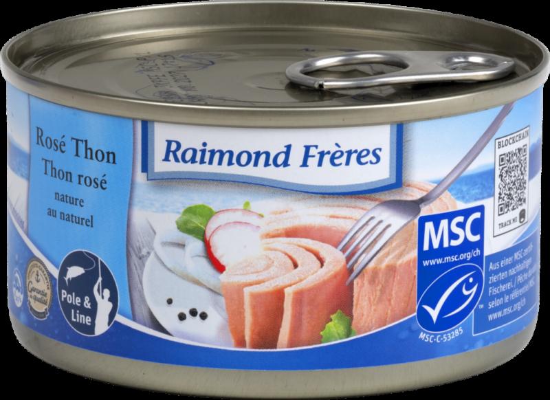 Raimond Frères MSC Pink tuna (SKJ) in brine (101997)