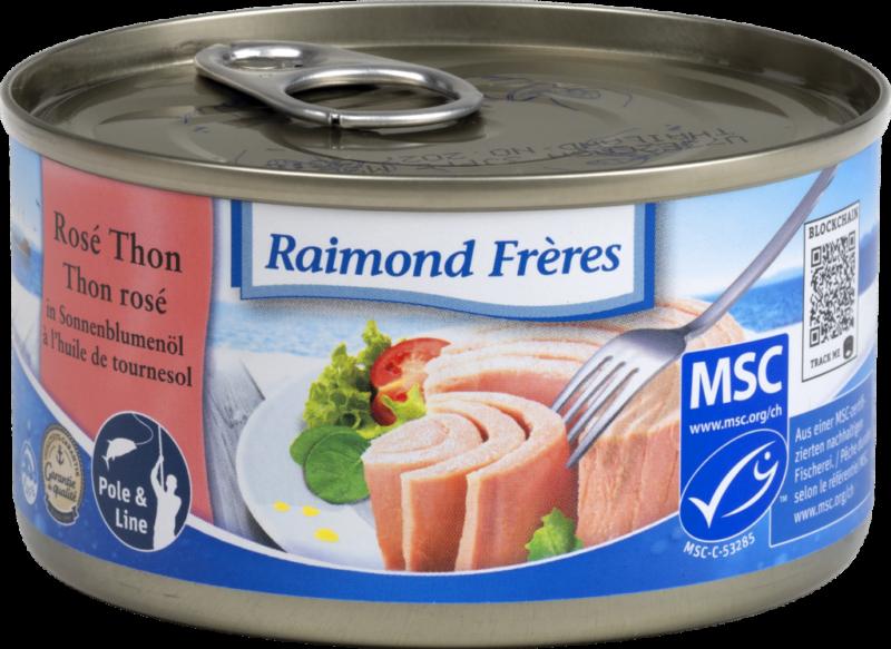 Raimond Frères MSC Pink tuna (SKJ) sunflower oil (102007)
