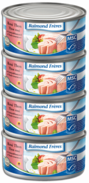 Raimond Frères MSC Pink tuna (SKJ) sunflower oil -4pce (102009)