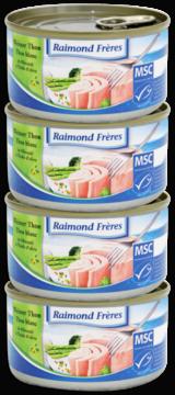 Raimond Frères MSC Thon blanc Albacore- huile olive-4pc (102105)