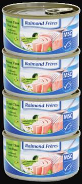 Raimond Frères MSC Thon blanc Albacore- huile olive-4pc (102137)