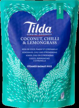 Tilda Rice coconut & chili rice pre-steamed (102250)