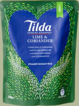 Tilda Rice Lime & coriander pre-steamed (102564)