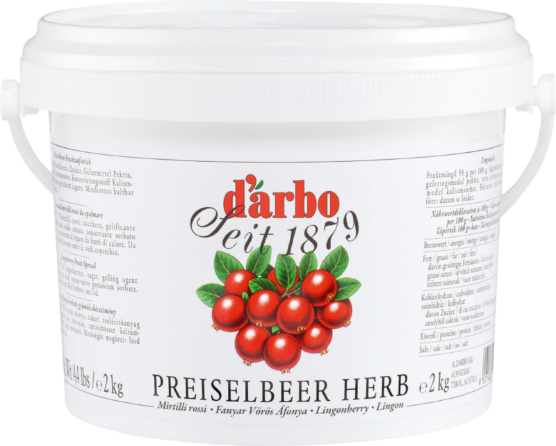 Darbo Preiselbeer herb 2kg Eimer (110610)
