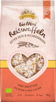 Leib und Gut Mini crackers red rice & chickpeas BIO (110654)