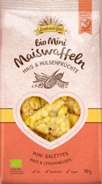 Leib und Gut Mini crackers corn & legumes BIO (110656)