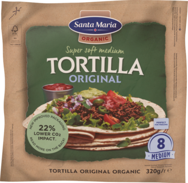 Santa Maria Organic Soft tortillas – 8 pieces 21 cm (110703)