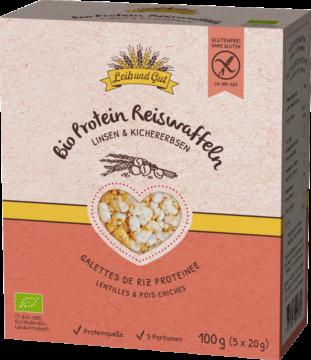 Leib und Gut Protein Reiswaffeln Linsen & Kichererbsen BIO (110983)