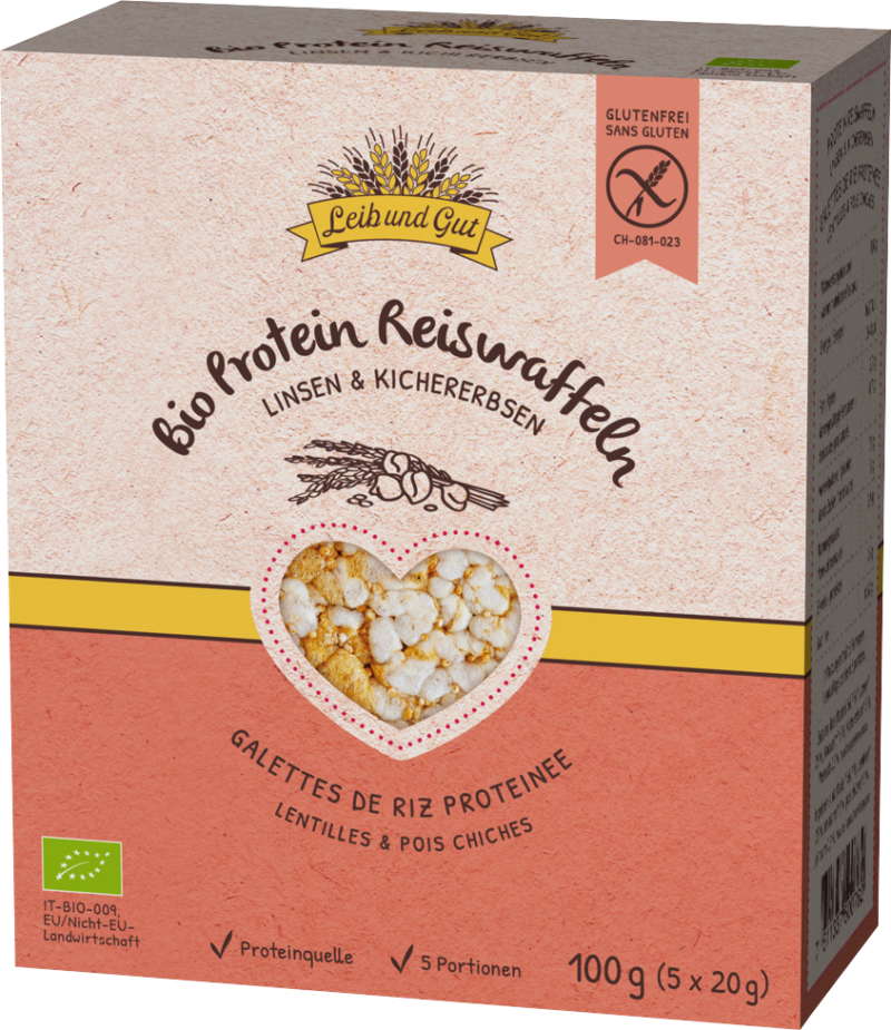 Leib und Gut Rice thins lentils & chickpeas organic (110983)