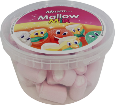 Van Damme Marshmallows centered tubes pink/white (111020)