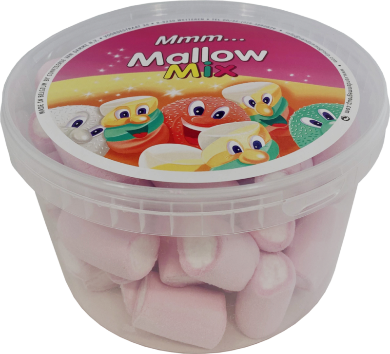 Van Damme Marshmallows centered tubes pink/white (111020)