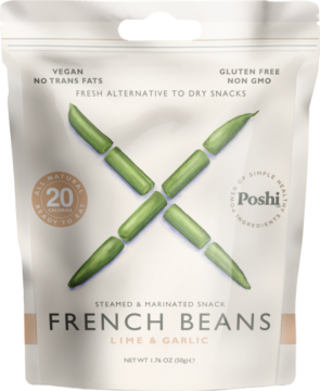Poshi French beans, marinated – lime & garlic (111065)