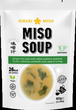 Hikari Instant miso soup 3 servings (111082)