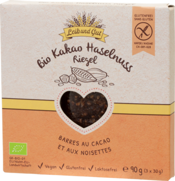 Leib und Gut Cocoa hazelnut bars ORGANIC (111105)