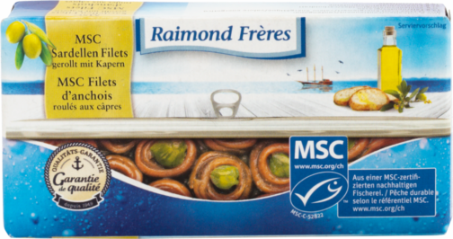 Raimond Frères MSC anchovy rolled with capers in olive oil (111116)