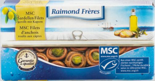 Raimond Frères MSC Sardellen gerollt mit Kapern in Olivenöl (111116)