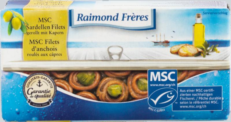 Raimond Frères MSC Filets d'anchois roulés avec câpres (111116)