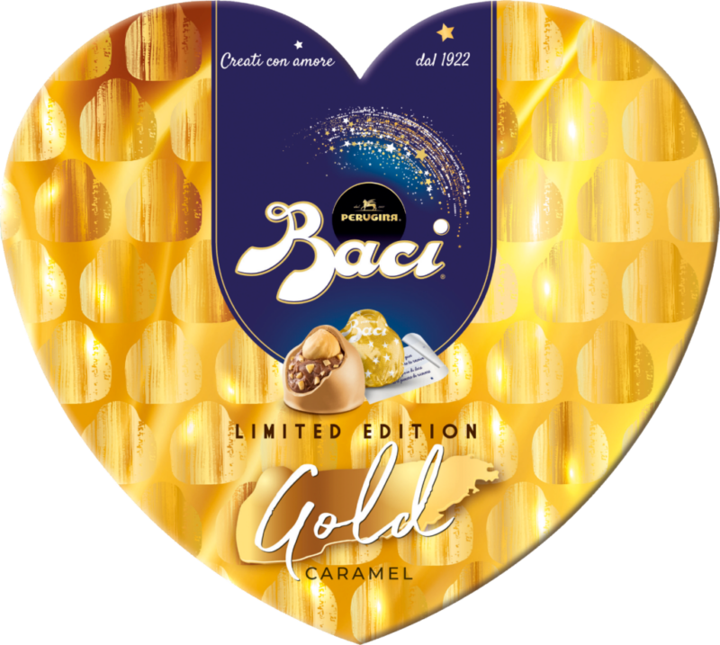 Baci Perugina Heart Box 8 pieces – Gold Limited Edition (111157)