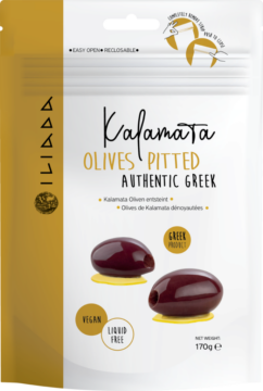 Iliada Kalamata olives pitted (113317)