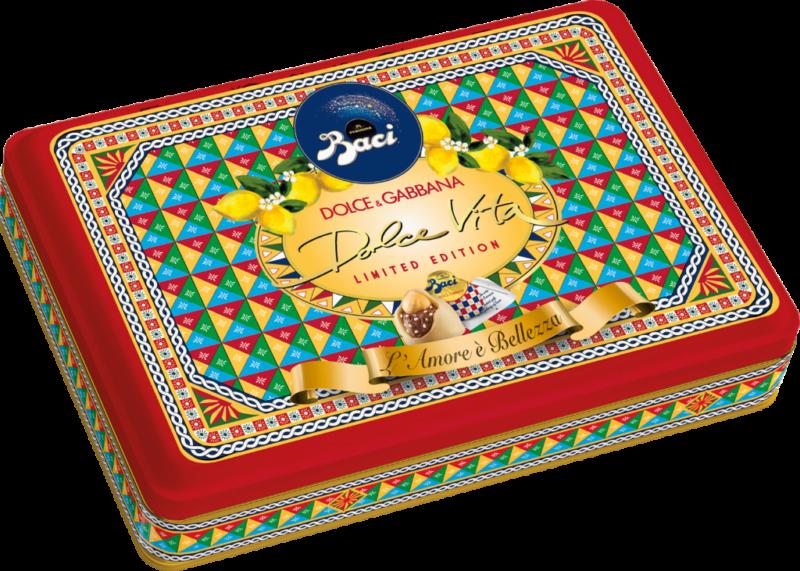 Baci Perugina Geschenkdose – 24 Stück – Zitrone -Dolce & Gabbana (113382)