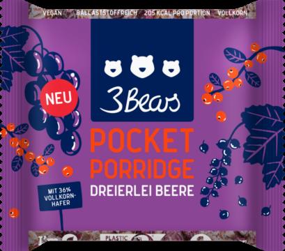 3Bears Pocket Porridge – 3 berries (113434)
