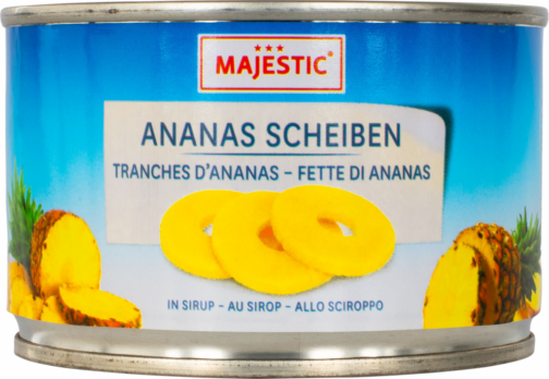 Majestic Pineapple 4 slices – syrup (14010)
