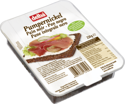 Delba Pumpernickel dark bread (5240)